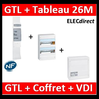 Legrand - Kit GTL 13M complet + tableau 26M + VDI 8RJ45 - 030037+401212+413248+413083x4