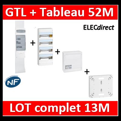 Legrand - GTL 13 + tableau 52M + VDI 8RJ45 + platine - 030037+401214+413248+413083x4+401191