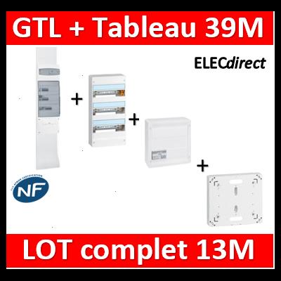 Legrand - GTL 13 + tableau 39M + VDI 8RJ45 + platine - 030037+401213+413248+413083x4+401191
