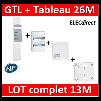 Legrand - GTL 13 + tableau 26M + VDI 8RJ45 + platine - 030037+401212+413248+413083x4+401191