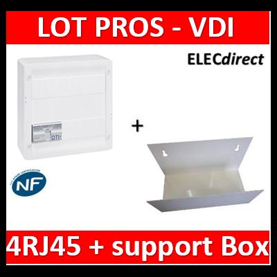 Legrand - Coffret VDI GRADE 2 - 4 RJ45 + support BOX Casanova - 413248+ETTRI250