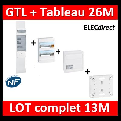 Legrand - GTL 13 + tableau 26M + VDI 4RJ45 + platine - 030037+401212+413248+401191