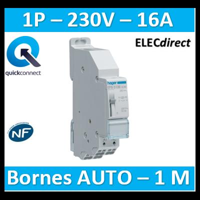 HAGER - Télérupteur 1F - 230V Sans Vis - EPS510B