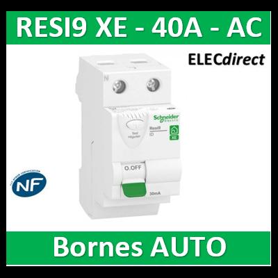 SCHNEIDER - Inter différentiel RESI9 XE 2P - 40A - 30ma - Type AC - R9ERC240