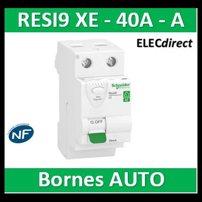 SCHNEIDER - Inter différentiel RESI9 XE 2P - 40A - 30ma - Type A - R9ERA240