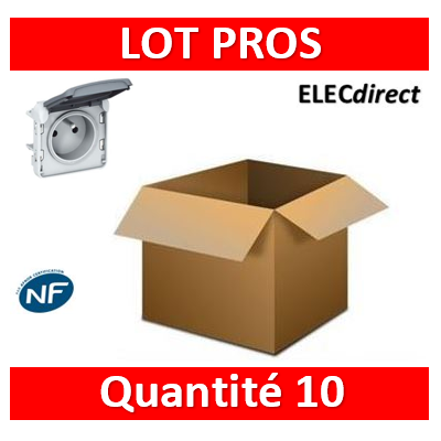 Legrand Plexo - Prise de courant 2P+T composable 16A - 230V - IP55/IK07 - 069551x10