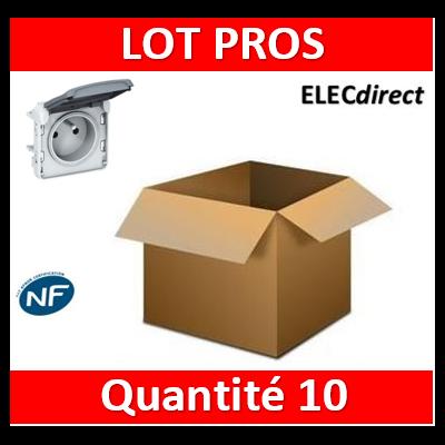 Legrand Plexo - Prise de courant 2P+T composable 16A - 230V - IP55/IK07 - 069551x10
