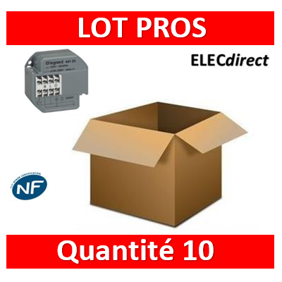 Legrand - Télérupteur encastrable 10A - 250V - Silencieux - 049120x10