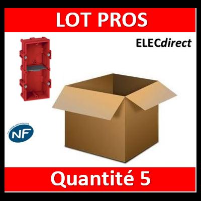 Legrand Batibox - Boîte à sceller 2 postes Hor/vert - 080142x5