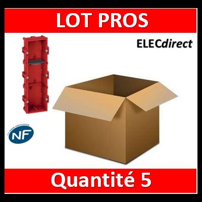 Legrand Batibox - Boîte à sceller 3 postes Hor/vert - 080143x5
