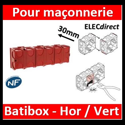 Legrand Batibox - Boîte à sceller 3 postes prof. 30mm - 080131x3