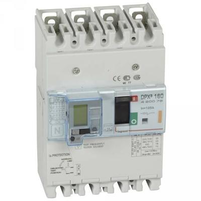 Legrand - Disjoncteur de puissance dpx³ 160 - magnéto-thermique différentiel - 25 kA - 4P - 125 A - 420076