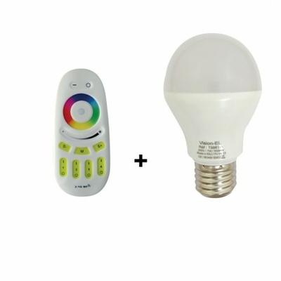 Viosn-EL - Ampoule LED E27 Bulb 7W RGB + Blanc + Télécommande - 7396D