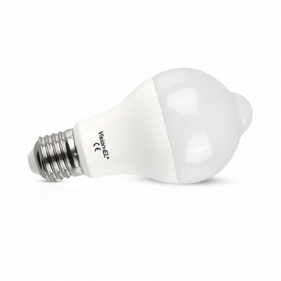 Vision-EL - Ampoule LED + Détecteur E27 12W 1100 LM 3000°K - 738890