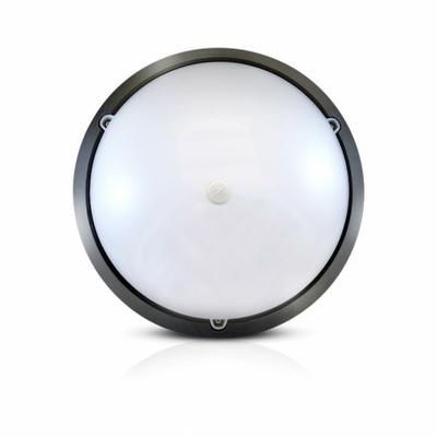 Vision-EL - LED Hublot + Détecteur IR Ø296 18W 1450LM 4500°K IP65 Noir - 779004