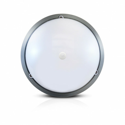 Vision-EL - LED Hublot + Détecteur IR Ø296 18W 1450LM 4500°K IP65 Gris - 779003