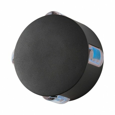 Vision EL - Applique Murale Rond LED 6W Diffuseur Bleu - Gris IP54 - 67803