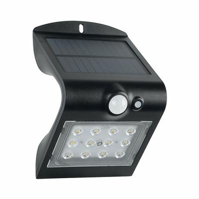 Vision EL - Applique Murale LED Solaire 1.5W 4000°K Noir + Détecteur - 70471