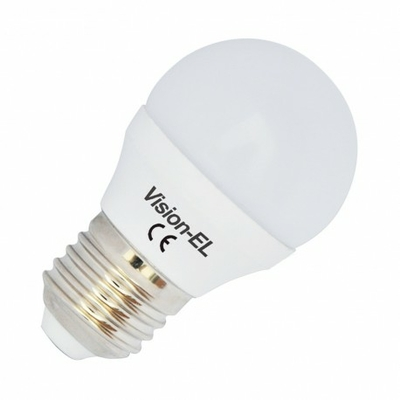 Vision-EL - Ampoule LED E27 Bulb G45 Dimmable 6W 3000°K - 7486CD