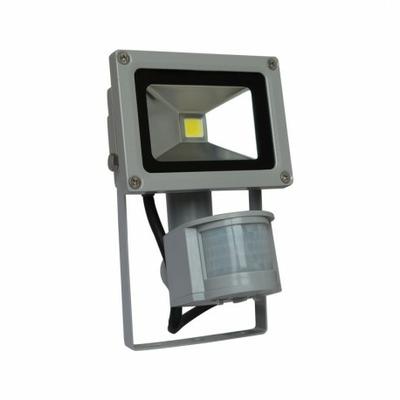 Vision EL - Projecteur Exterieur LED Gris avec Détecteur 10W 6000°K - 8030
