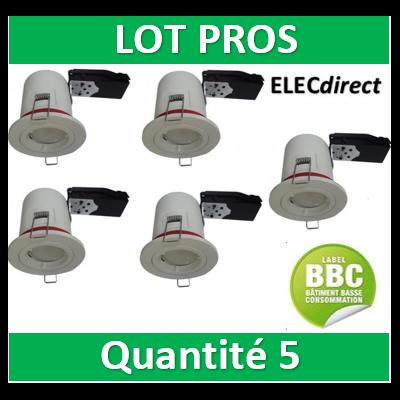 Vision EL - Support Spot Fixe - étanche à l'air - Blanc - D.88mm - BBC - 7718x5