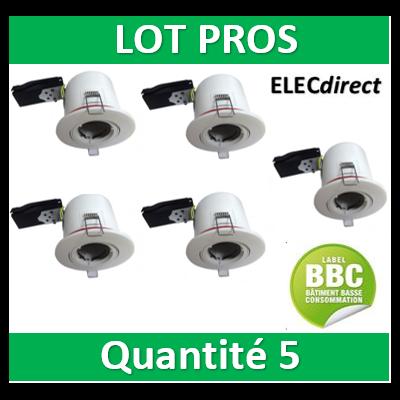 Vision EL - Support Spot Orientable - étanche à l'air - Blanc - D.100mm - BBC - 7719x5