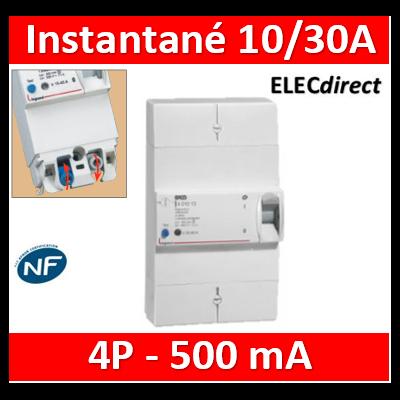 Legrand - Disjoncteur de branchement ERDF - 4P 10/30A 500 MA Instantané - 401010