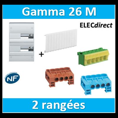 Hager - Coffret GAMMA 26 Modules - 2 Rangées de 13M - GD213A