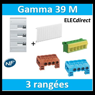 Hager - Coffret GAMMA 39 Modules - 3 Rangées de 13M - GD313A