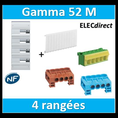 Hager - Coffret GAMMA 52 Modules - 4 Rangées de 13M - GD413A