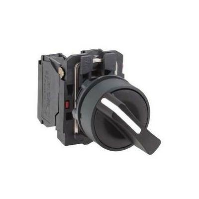 Schneider - Harmony bouton tournant noir Ø22 - à manette - 2 positions - 1F - XB5AD21