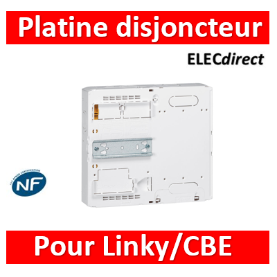 Legrand - Platine disjoncteur branchement et/ou compteur Linky/CBE - DRIVIA 13M et 18M - 401182