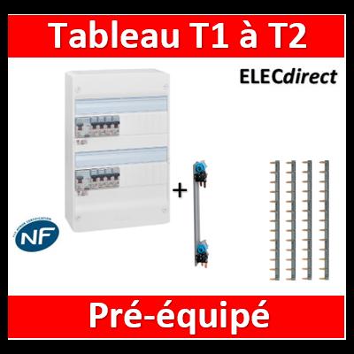Legrand - Tableau électrique - spécial pour logement T1 ou T2 - Pré-équipé