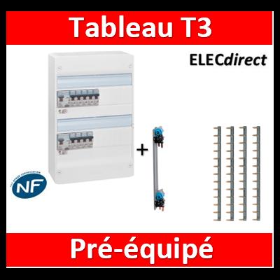 Legrand - Tableau électrique - spécial pour logement T3 - Pré-équipé