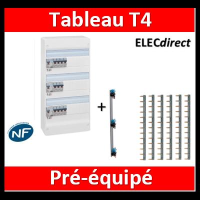 Legrand - Tableau électrique - spécial pour logement T4 - Pré-équipé