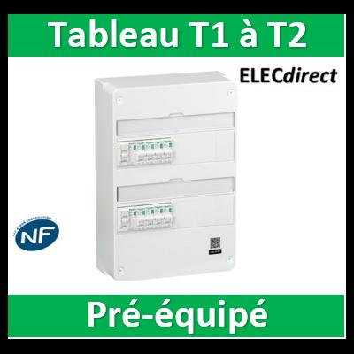 Schneider - Tableau électrique - spécial pour logement T1 ou T2 - Pré-équipé