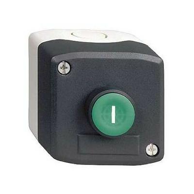 Schneider - Harmony boite - 1 bouton poussoir vert affleurant Ø22 - 1F - I - XALD102