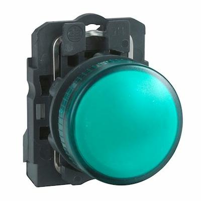 Schneider - Harmony voyant rond Ø22 - IP66 - vert - LED intégrée - 24V - XB5AVB3