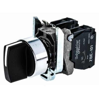 Schneider - Harmony bouton tournant noir Ø22 - à manette - 2 positions - 1F - XB4BD21