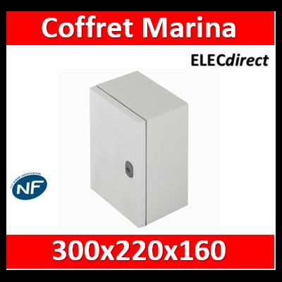 Legrand - Coffret polyester Marina - IP66 IK10 - RAL 7035 - 300x220x160 mm - 036250