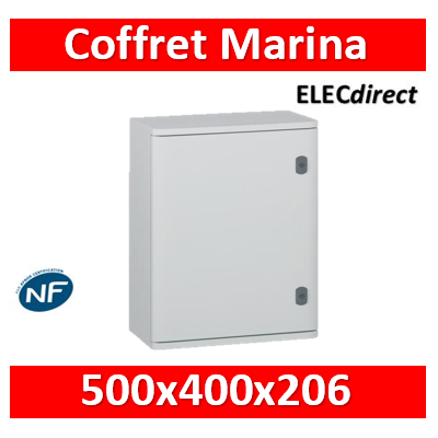 Legrand - Coffret polyester Marina - IP66 IK10 - RAL 7035 - 500x400x206 mm - 036252