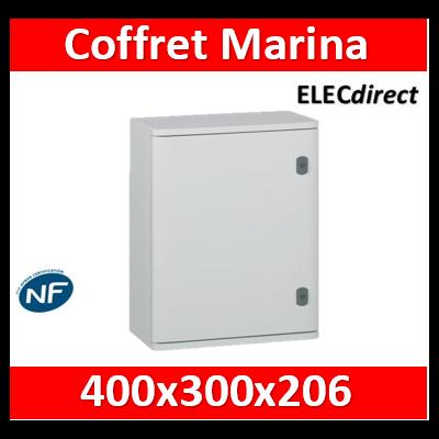 Legrand - Coffret polyester Marina - IP66 IK10 - RAL 7035 - 400x300x206 mm - 036251