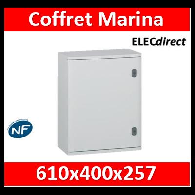 Legrand - Coffret polyester Marina - IP66 IK10 - RAL 7035 - 610x400x257 mm - 036255