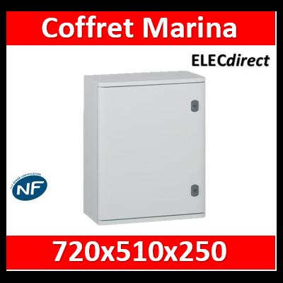 Legrand - Coffret polyester Marina - IP66 IK10 - RAL 7035 - 720x510x250 mm - 036256
