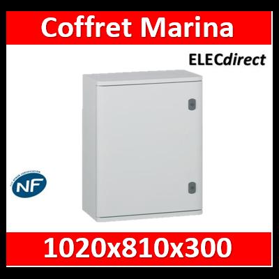Legrand - Coffret polyester Marina - IP66 IK10 - RAL 7035 - 1020x810x300 mm - 036263