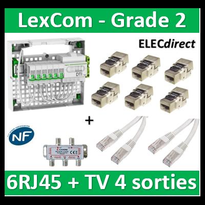 Schneider - Coffret VDI Grade 2 LexCom ECO-PACK 6 RJ45 - VDIR390026