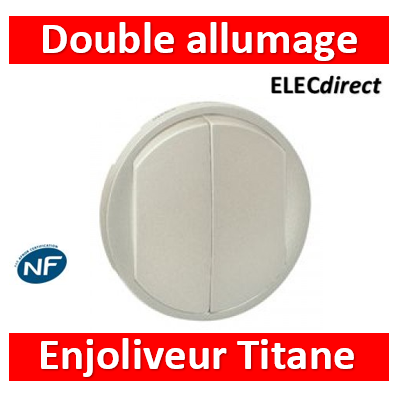 Legrand Céliane - Enjoliveur double allumage Titane - 068302
