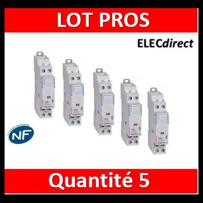 Legrand - Contacteur de puissance bipolaire bobine 230V - 25A - 2F - 412523x5