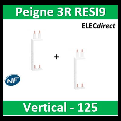 Schneider - Resi9 XP Peigne vertical 3 rangées entraxe 125mm - R9PXVx2