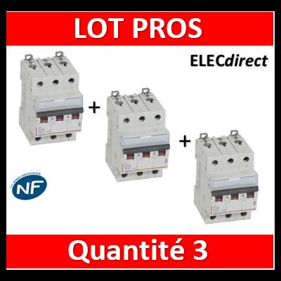 Legrand - Disjoncteur 3P DX3 16A - 10kA - courbe D - 408059x3